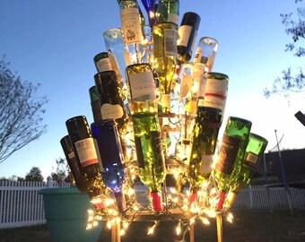 Wine Bottle Tree (4) four foot