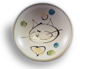 """Flat Kitty / plate """"kitten"""""""