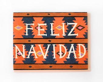 Feliz Navidad Blanket Card