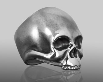 Skull Ring. Silver Skull Ring. Skull Ring For Men. Men's Skull Ring. Skull Jewelry. Biker Jewelry. Rocker Jewelry. Keith Richards Inspired.