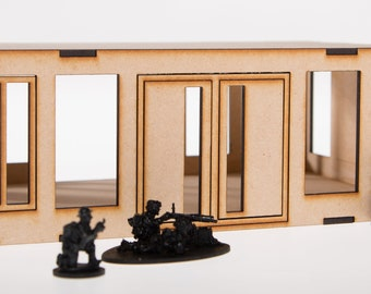 Single storey Industrial Terrain unit for 28mm Gaming.