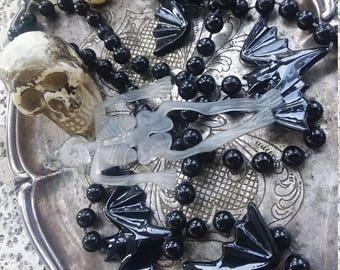 Skull lot, bat lot, Halloween, goth, voodoo, hat making, new Orleans, Mardi gras, beads, mixed media, destash