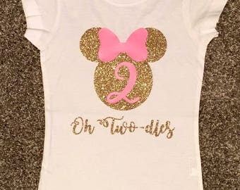 OH TWODLES BIRTHDAY shirt, Minnie Mouse birthday, minnie birthday shirt, twodles birthday shirt, second birthday shirt, Minnie Mouse shirt