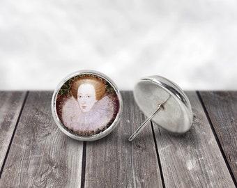 Elizabeth Tudor, Queen Elizabeth I, 12mm Stud or Dangle Earrings, Elizabeth Tudor, British History, Kings and Queens, Tudor Era