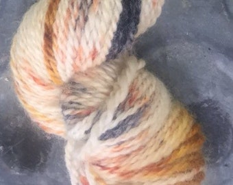 BFL worsted weight wool yarn hand-dyed