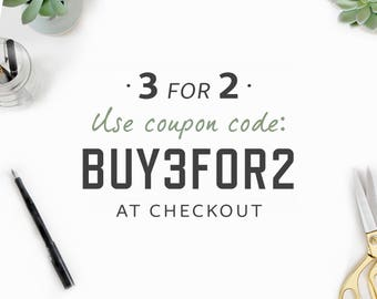 BUY 3 FOR 2 / Special Offer / Choose From All Planners In My Shop! (Life planner bundles not included) Use Coupon Code BUY3FOR2