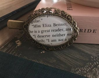Literary Hair Clip, Pride and Prejudice Book Page