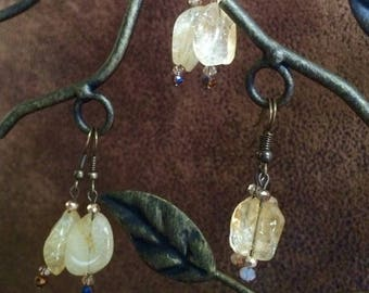 Citrine Chunk Earrings