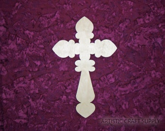 "Wood Cross Unfinished Wooden Crosses 7""  x 11"" inch Crafts Part C11-135"