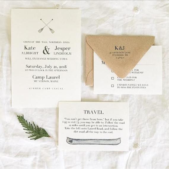 Summer camp wedding invitations summer camp wedding suite stopboris Choice Image