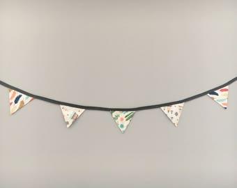 banner flags, flags, Pennant, fabrics, streamer, pennant, wall decor, wall decor, bedroom, little lapetites