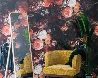 Ambroise Mural - Retro, Victorian Floral Pattern Wallpaper