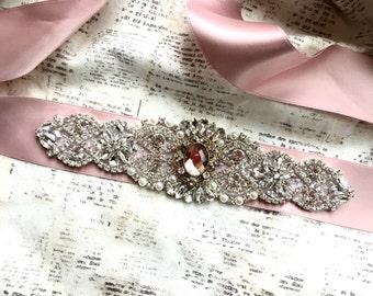 Blush Sash, Blush Bridal Sash, Wedding Sash Blush, Rose Gold Sash, Rose Gold Belt, Blush Sash Belt, Bridal Sash Blush, Sashes and Belts