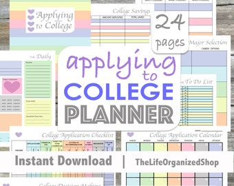 Applying to College Planner (Student Planner) - From the Luminous Collection