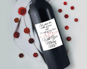 Wine Proposal - Will You Marry Me - Proposal Keepsake - Marriage Proposal - Wine Bottle Label - Wedding Proposal - Proposal Ideas