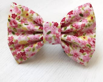 Cherry Blossom Dog Bow Tie