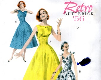Butterick 5603 RETRO '56 CROSSED BODICE English & French Francais Instructions Size 6 - 8 - 10 - 12