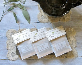 Tea Sampler Pack • 6 Handmade Loose Leaf Tea Bags • You Choose the Flavors