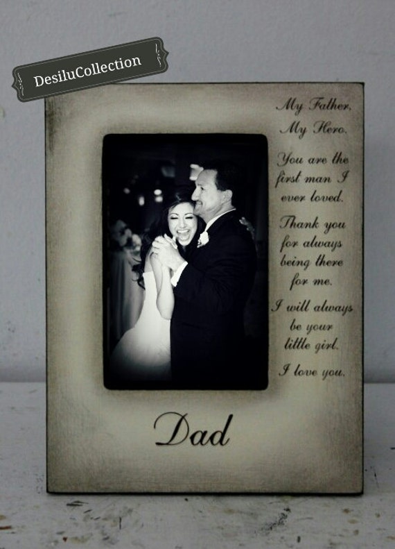 Father Daughter Wedding Frame Bride Hero Father Keepsake