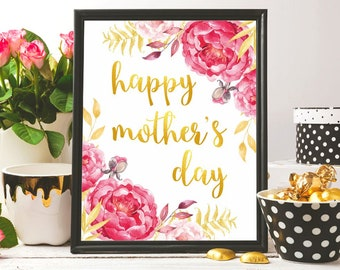 Mother's day poster print Mother's day gift Mothers day printable Mothers day card print Happy mother's day printable Mother's day wall art