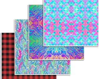 "12"" x 12"" Oracal Patterned Vinyl - Bold Bundle by Sparkle Berry"