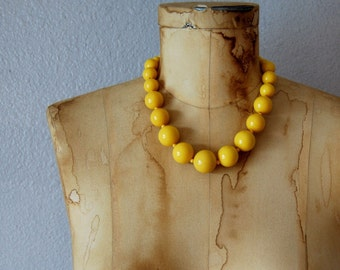 vintage 1960s LOVE BEADS GUMBALLS large statement necklace
