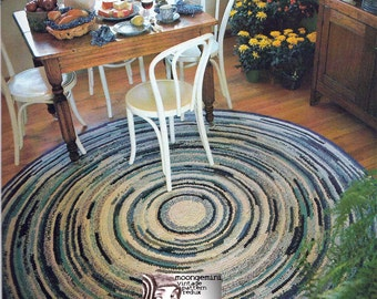 Crochet Rug Pattern Rag Rug Just Like Grandma Used to Make from Fabric Strips PDF