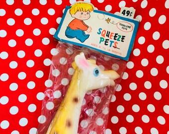Vintage Rubber Giraffe Squeak Toy