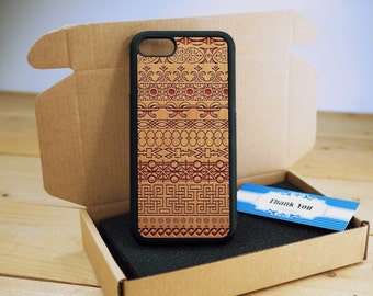 Totem Full Protection - Personalize  Wood iPhone case Wood iPhone 7 Case iPhone 6S Case wood iphone 6 case