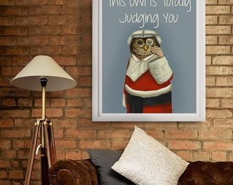 Lawyer Gift Legal Gift Owl Judge gift - Owl judging you meme - owl print law school graduation gift birthday gift for dad gift for husband