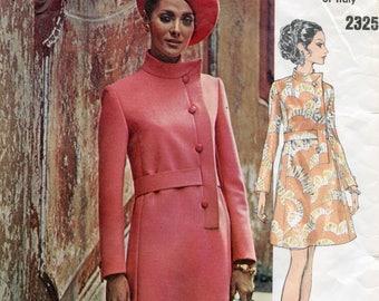 Vogue 2325 ONE-PIECE DRESS Pattern Coatdress Pattern Fabiani Vogue Couturier Bust 42 Size 38 UNCuT 1960s Plus Size Womens Sewing Patterns