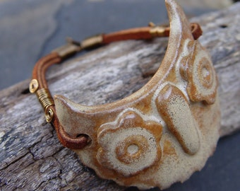 Simply Amazing Owl Cuff with Leather and Brass Bracelet