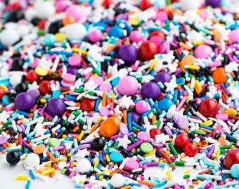FAST Shipping!!! Graffiti Sweetapolita 4oz  Sprinkles, Jimmies Sprinkles, Graffiti Mix Sprinkles, Cookie Sprinkles, Cake Sprinkles