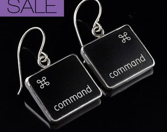 SALE - Computer Key Jewelry - rePURPOSED Command Key v2 Earrings