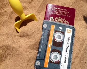 Passport Cover Passport Case Personalised Mix Cassette Tape