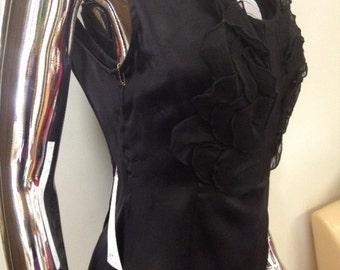 Silk petal blouse sale