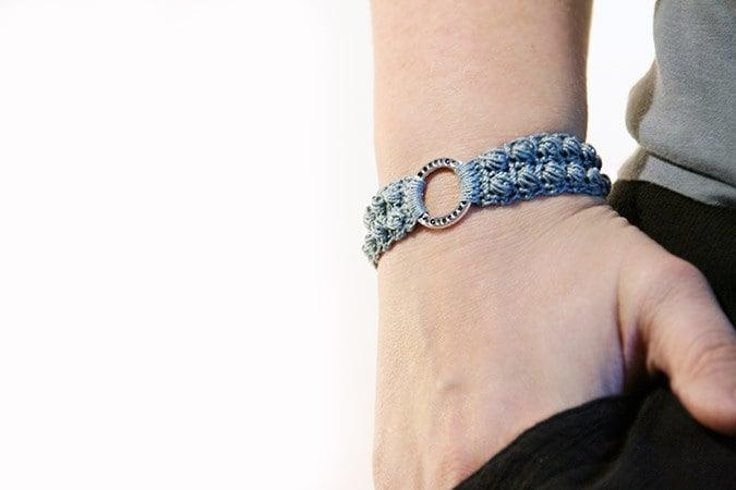 Crochet bracelet pattern burling bracelet Crochet pattern