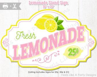 Lemonade Stand Sign - DIY Instant Download