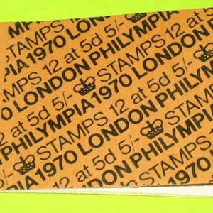 Vintage 1970 British Unused Stamp Book London Philympia