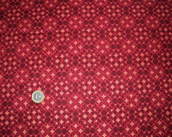 Fabric coupon ideal patchwork holly holiday red 55 x 50 cm Fat Quarter