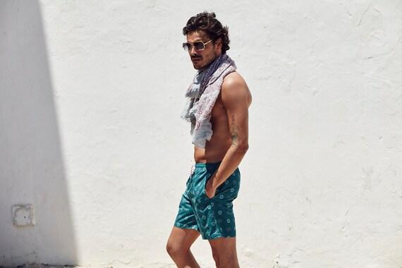 ON SALE Aqua Talisman Men's Swimwear / Ibiza Style / Mens Swim Briefs / Mens Swim Trunks / Boyfriend Gift / Husband Gift / Designer Luxury GU1MTm