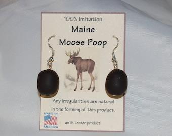 Maine Moose Poop Earrings (100% Imitation)