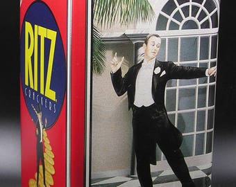 Christie's Ritz Anniversary Tin, 1935 -1990, Fred Astaire & Ginger Rogers, Art Deco