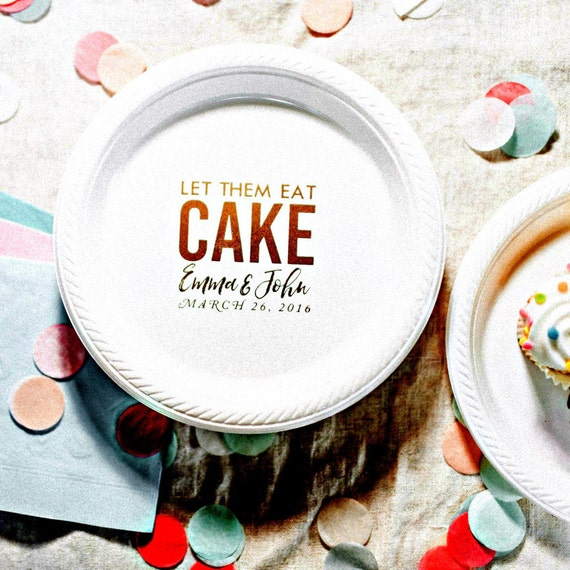 sc 1 st  Etsy & Party Plates Cake Plates Let Them Eat Cake Personalized
