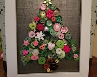 Buttons and Baubles Christmas Tree