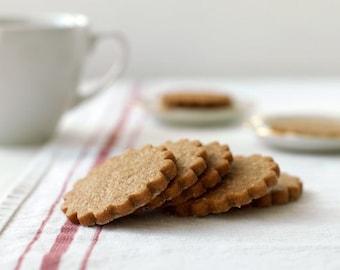 Brown Sugar Ginger Spice Shortbread Cookies - Gourmet Tea Cookies, Shortbreads