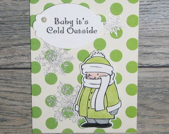 Baby It's Cold Outside handcrafted card-CB123117-11