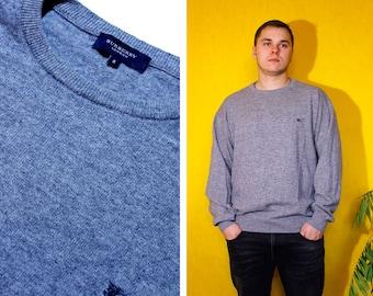 Burberry London Men's Size XL-2XL Lambswool / Angora Sweater Jumper Pullover