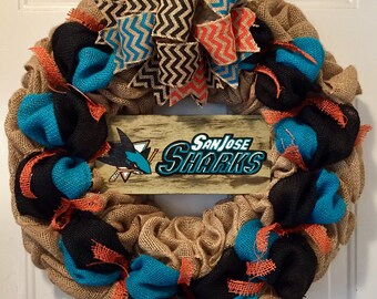 San Jose Sharks wreath