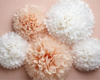 paper Pompom 21/ tissue paper/ flower balls/ wedding decoration/ party/ events/ decoration/ pom pom/ baby showe